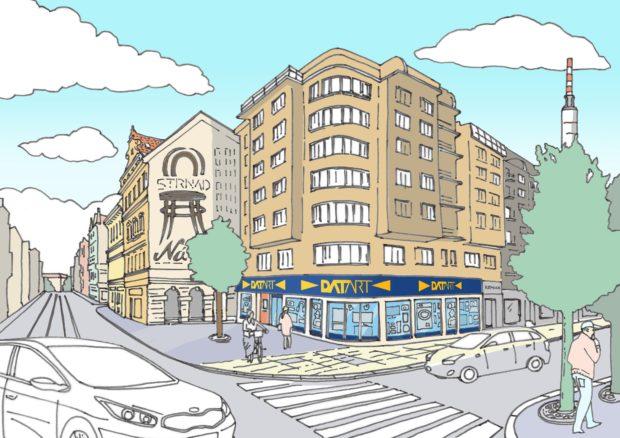 Datart otevřel malou pražskou prodejnu ve Vinohradské ulici