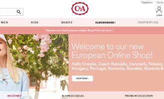 C&A otevřelo e-shop pro Česko a dalších deset zemí