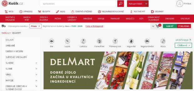 Delmart prodává potraviny přes Košík.cz