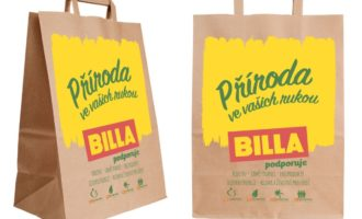 Billa přechází na prodej papírových tašek