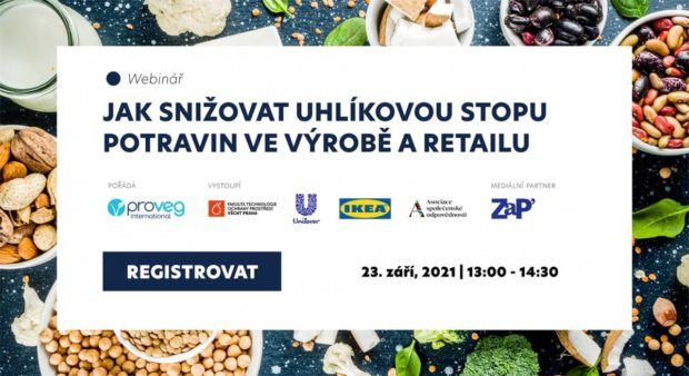 23. 9. 2021, Jak snižovat uhlíkovou stopu potravin ve výrobě a retailu, on-line