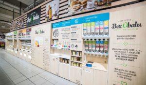 Albert na Chodově zahájil bezobalový prodej drogerie a suchých potravin
